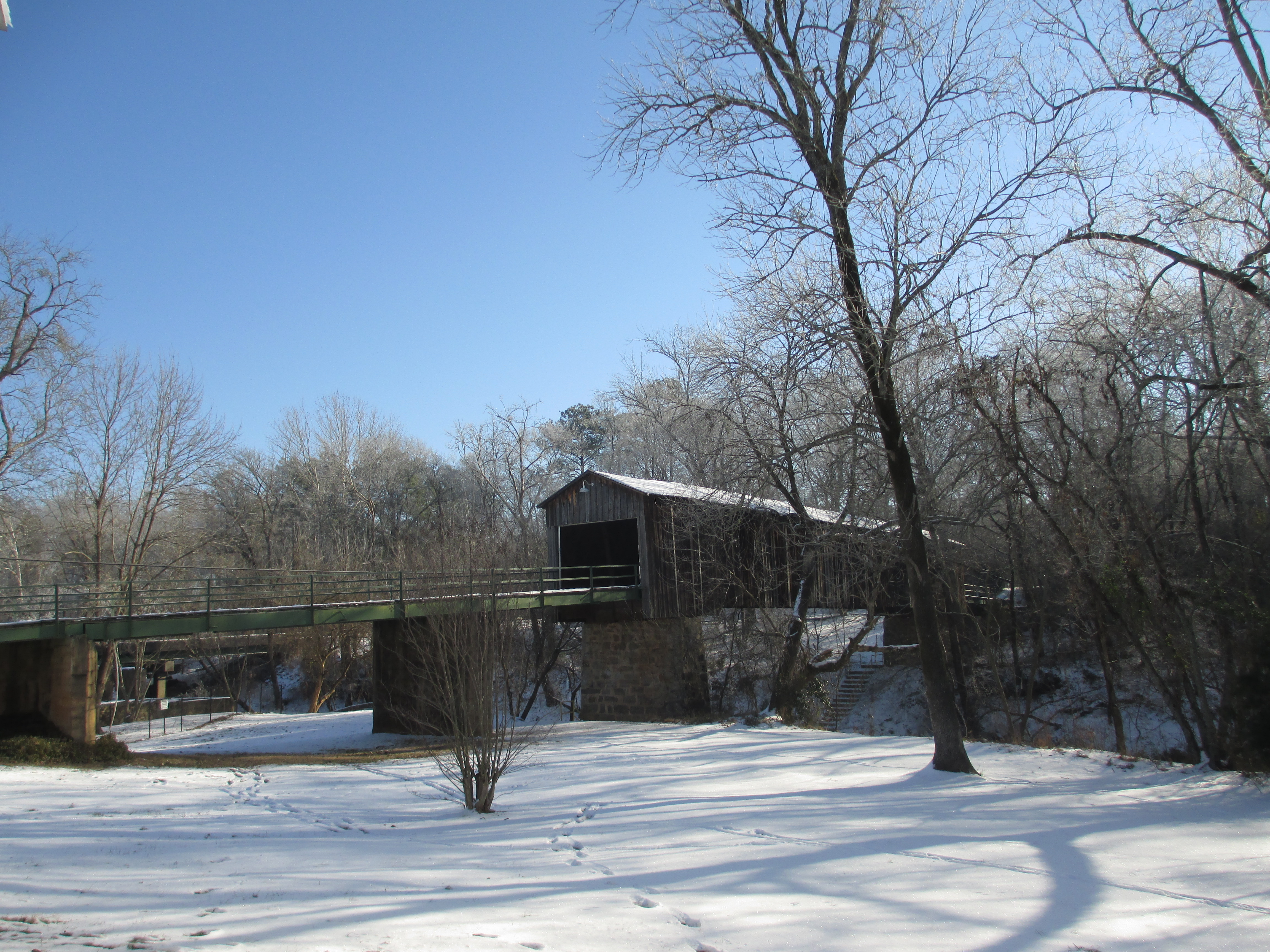 A Snowy Euharlee Covered Bridge