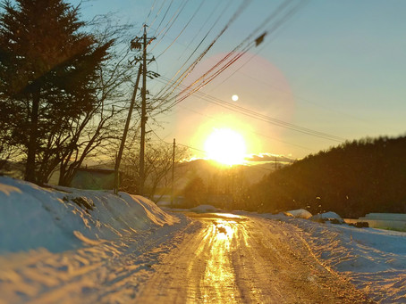 夕方のドライブでは夕陽にご注意を!