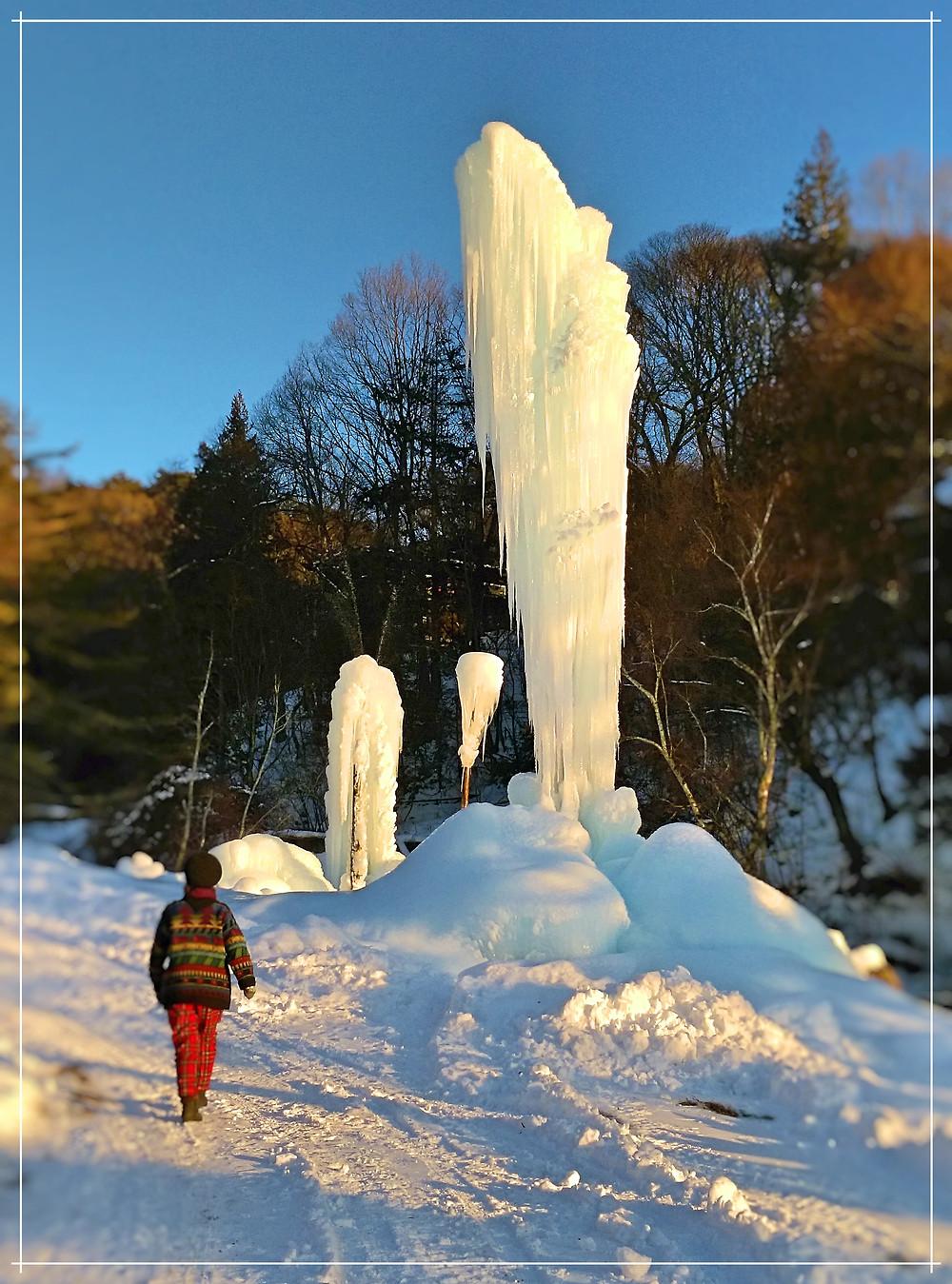 蓼科の氷柱