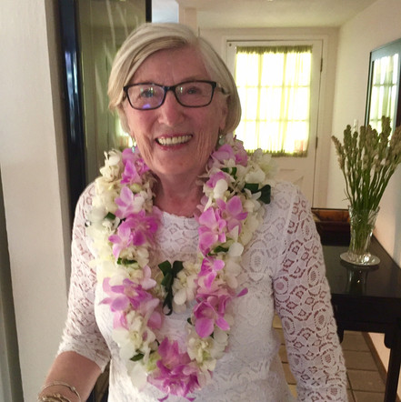 Two double orchid leis