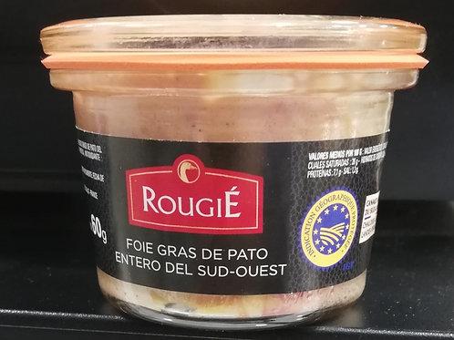 Mi-cuit Rougié en tarro de cristal de 60g.