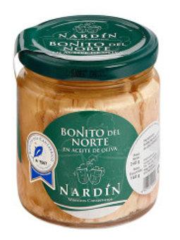 Lomos de Bonito del Norte. 240 gr. Frasco.