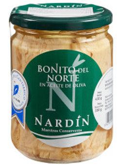 Lomos de Bonito del Norte. 430 gr. Frasco.