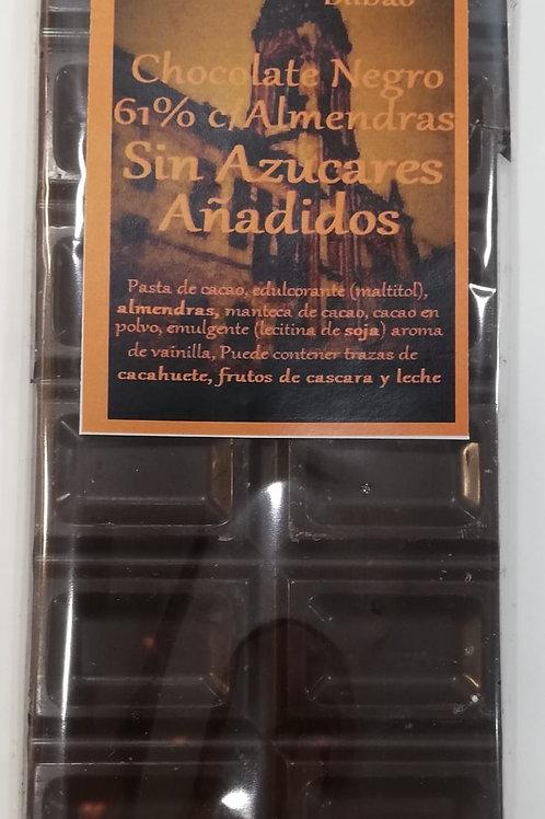 chocolate 61% de Cacao con almendras