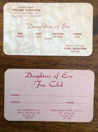 Daughters of Eve Business Card