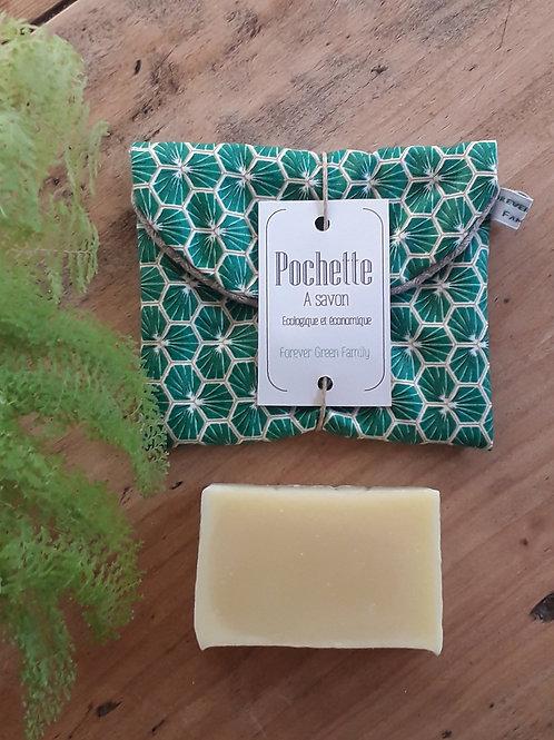 Pochette à savon verte