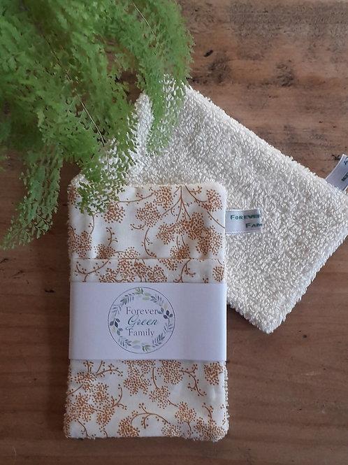 Pochette sauve savon fleurs ocre