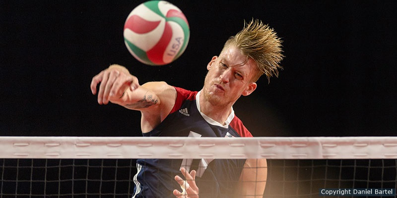 max holt spiking a volleyball