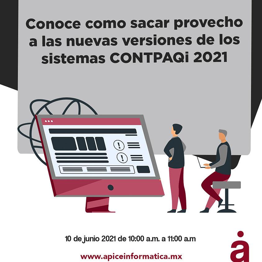 Nuevas versiones de los  sistemas CONTPAQi 2021