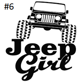 "JEEP GIRL DECAL (5""X5"")"