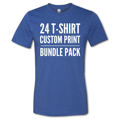24 CUSTOM PRINTED T-SHIRTS BUNDLE PACK