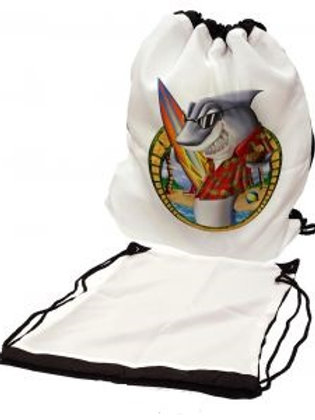"Sublimation Drawstring Backpack with Black Panel - 14.5"" x 17"""