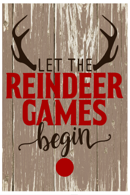Reindeer Games Sign
