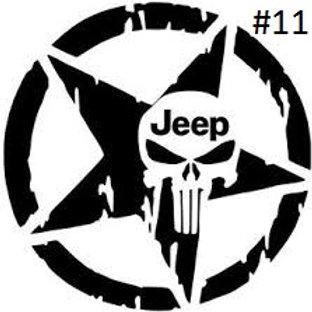 """JEEP SKULL STAR DECAL (5""""X5"""")"""
