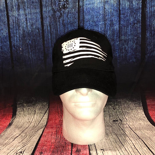 Distressed Flag Hat 3%