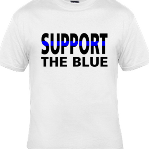 SUPPORT THE BLUE T-SHIRT