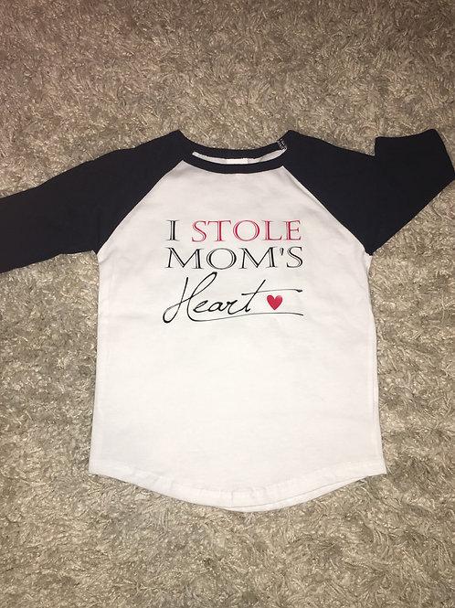 I STOLE MOMS HEART BABY T-SHIRT