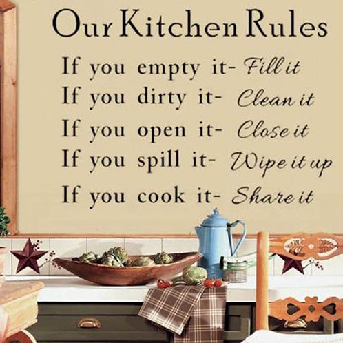 OUR KITCHEN RULES DECAL