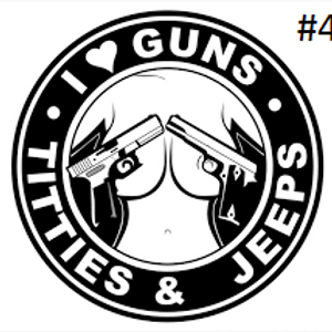 "I LOVE GUNS, TITIES, & JEEPS DECAL (5""X5"")"