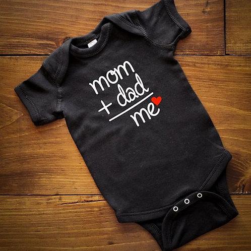 MOM DAD ME BABY ONESIE