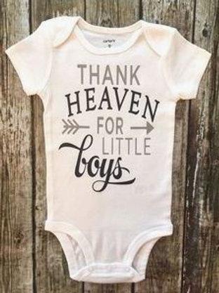 THANK HEAVEN FOR LITTLE BOYS ONESIE