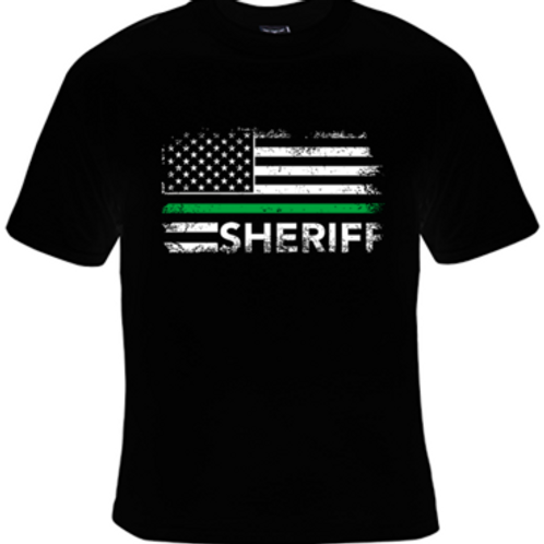 SHERIFF GREEN LINE T-SHIRT