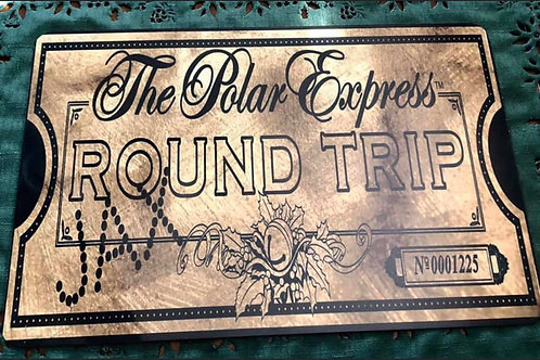 "Custom Polar Express Ticket Sign 8""x12"""