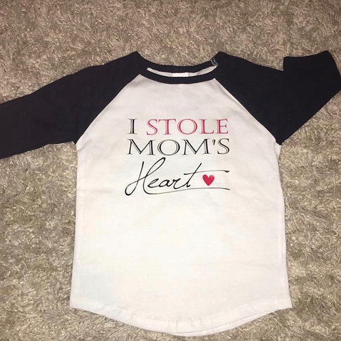 I Stole Mom's Heart Baseball Style Shirt