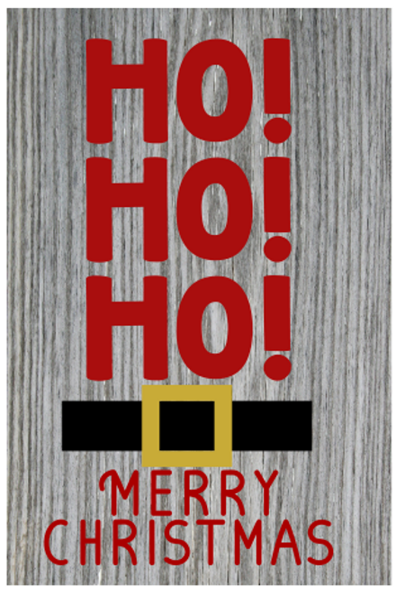 Ho Ho Ho Merry Christmas Sign