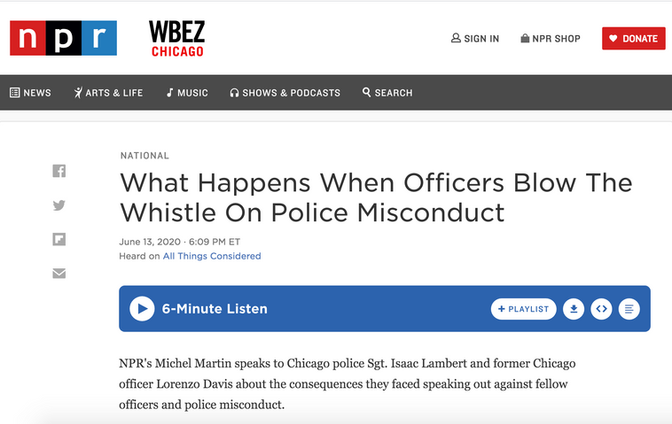 What Happens When Officers Blow The Whistle On Police Misconduct