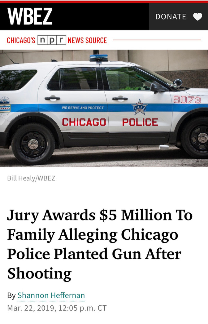 Jury Awards $5 Million To Family Alleging Chicago Police Planted Gun After Shooting