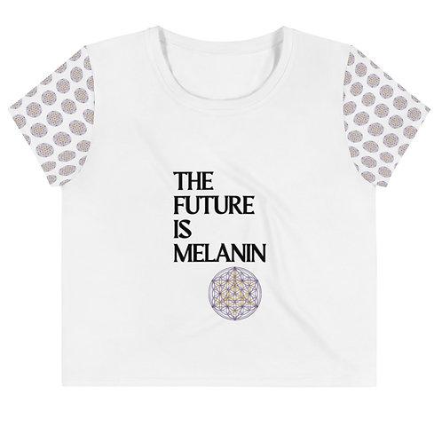 The Future Is Melanin Crop Tee