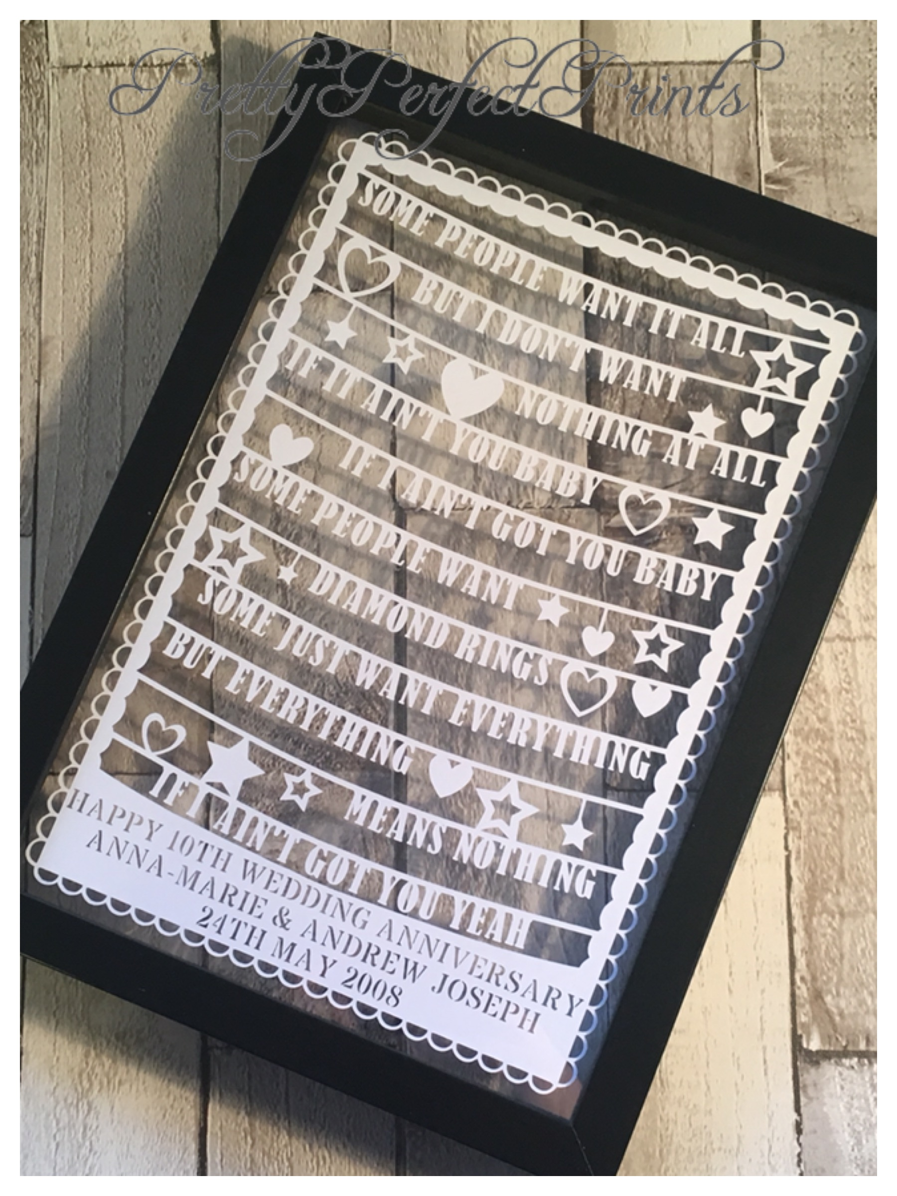 Personalised Gifts for Love   Pretty Perfect Prints   Harlow UK