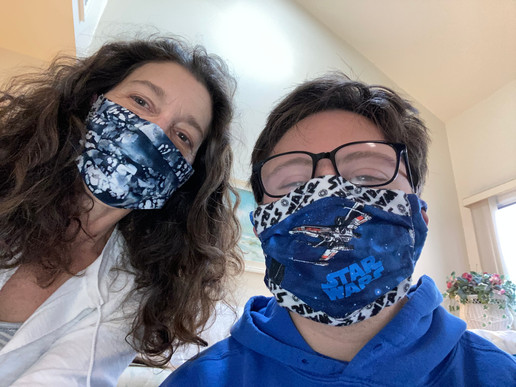 Susan and Kevin Wearing Masks