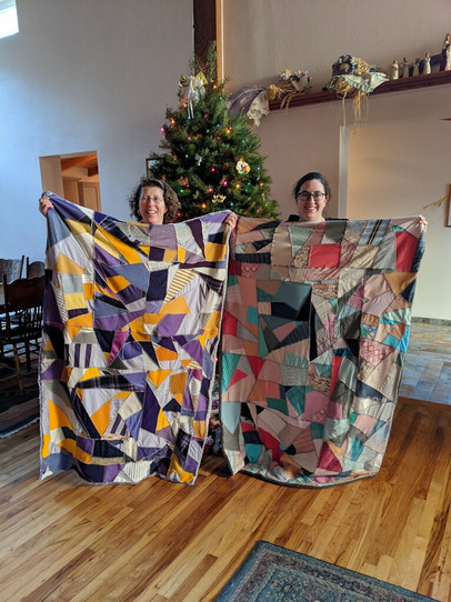 Two of our favorite Customers with their custom color blankets