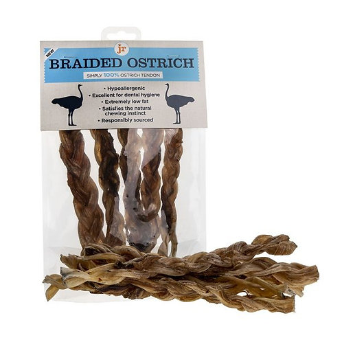 A little bit different! Braided Real Meat Ostrich Chews