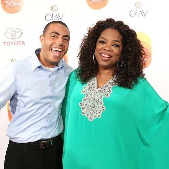 Alex and Oprah Winfrey