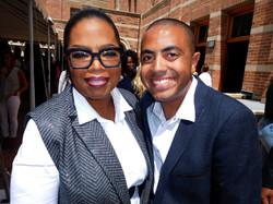Alex Bryant and Oprah Winfrey
