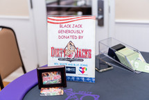 Blackjack table hosted by Dirty Jacks Poker Entertainment