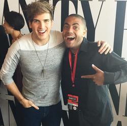 Alex with YouTube Star Joey Graceffa