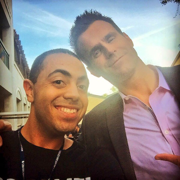 Alex with Entertainment Tonight's Correspondent Cameron Mathison