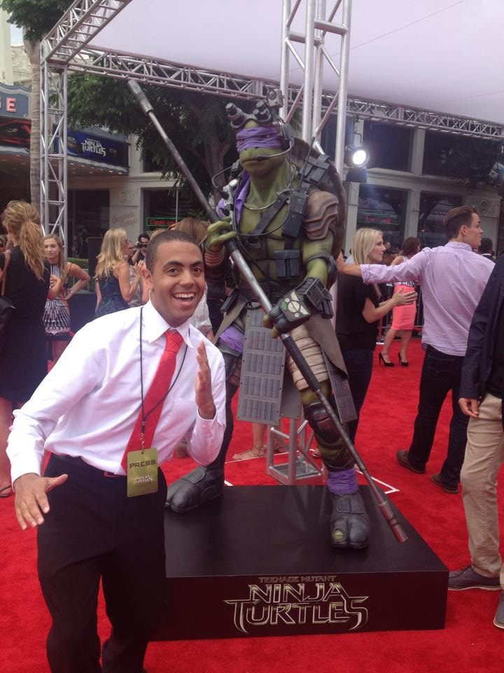 Alex at Teenage Mutant Ninja Turtles Premiere