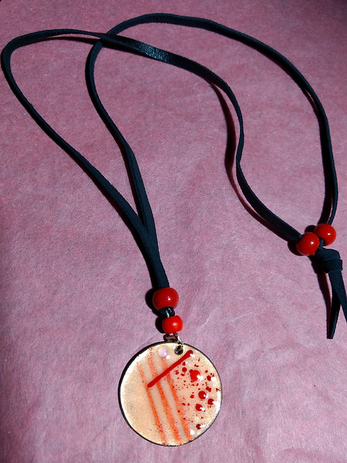 Red bead pendant
