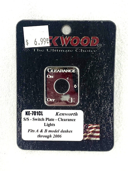 Clearance Light Switch Plate