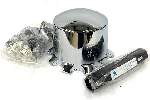 Chrome Front Hub Cover & 33mm Nut Covers