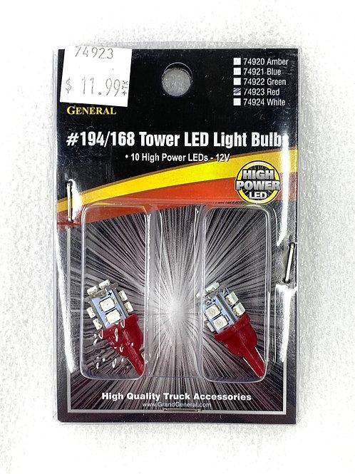194/168 Tower Light Bulb Red