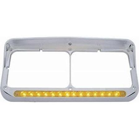 Rectangular LED Headlight Bezel