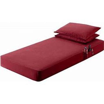 "42"" x 85"" Red Bed Sheet Set"
