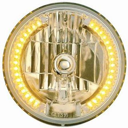 """7"""" Round Amber Headlight"""