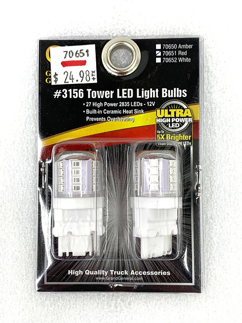3156 Tower Light Bulb Red